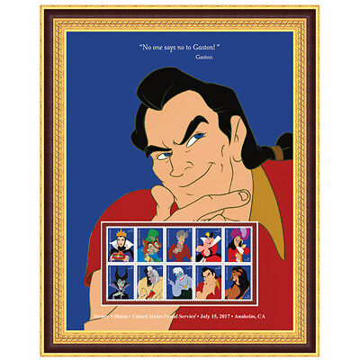USPS New Disney Villains Gaston Framed Art