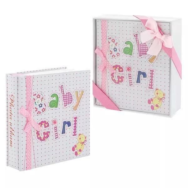 Baby Girl Photo Album : Baby Shower Gift : Baby Keepsake