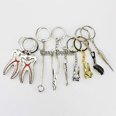 9pcs Assorted Dental Clinic Molar Tool Keychain Dentist Great Gift New