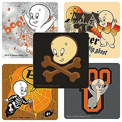 Casper The Ghost Halloween (15 Casper The Freindly Ghost  Stickers Party Favors Teacher Supply)