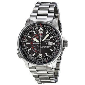Citizen Nighthawk Eco-Drive Pilot Watch Mens Watch BJ7000-52E