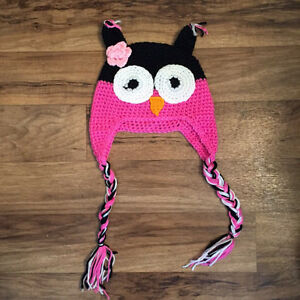 NEW - Owl crochet hat - Tuque hiboux  - Toddler