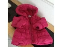 CHILDS PINK PADDED COAT