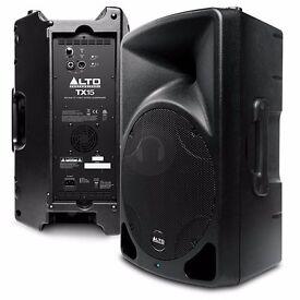 ALTO TX15 600 WATT ACTIVE SPEAKER BOUGHT 2 WEEKS AGO FOR 200 WILL TAKE 150 !