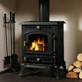 Wood burning stove, free standing non electric