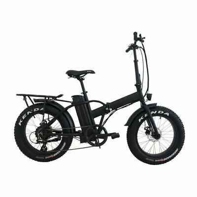 500W 48V Fat Tire Folding Electric Bike - White Label E-FAT-MN