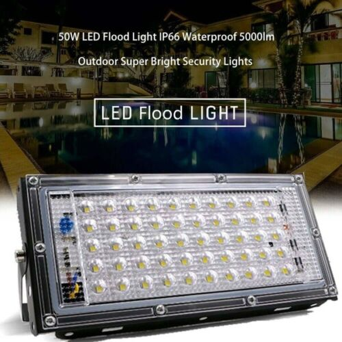 U`King 50W 50 LED Flood Light 110V Waterproof Garden Outdoor