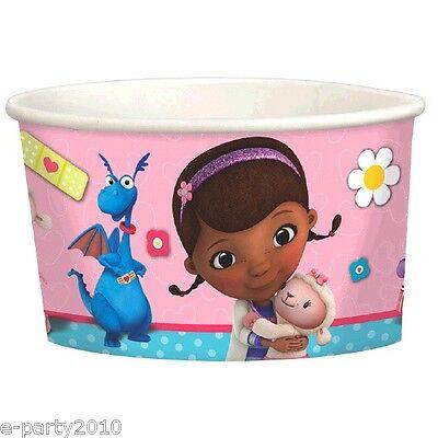 DOC MCSTUFFINS ICE CREAM CUPS(8) ~ Birthday Party Supplies Dessert Treat Loot](Doc Mcstuffins Cups)