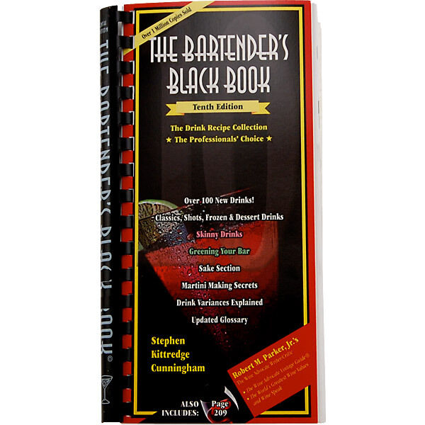 The Bartenders Black Book 10th Edition - Bar & Pub Cocktail Drink Mixing Recipes