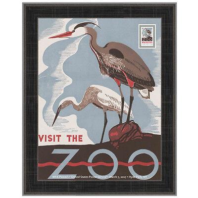 USPS New WPA - Visit the Zoo Framed Art