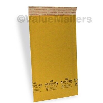 100 00 5x10 Kraft Ecolite Bubble Mailers Padded Envelopes