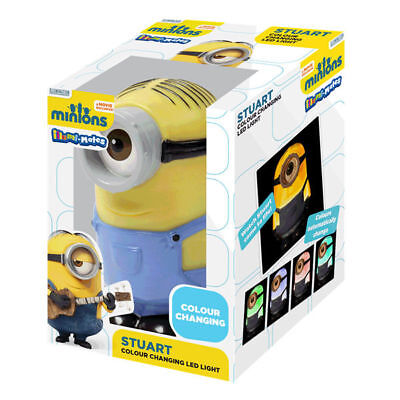 DESPICABLE ME MINIONS COLOUR CHANGING LED NIGHT LIGHT BEDROOM LAMP STUART