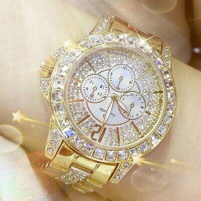 Diamond Luxury Watch - Women Diamond Watch Ladies Luxury Fashion Jewelry Wristwatch Lady Gold Watch