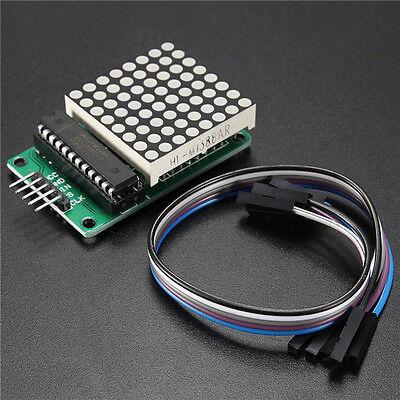 LED Display Matrix 8x8 MAX7219 Dot Module MCU Control mit Cable Kit für Arduino