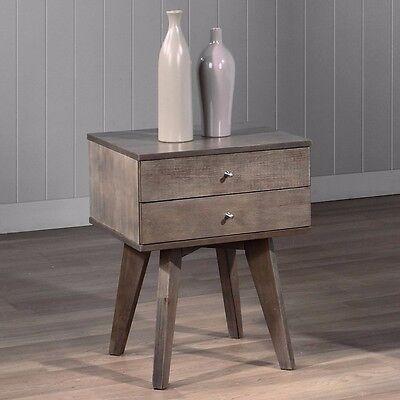 منضدة جانب السرير جديد Nightstand Bedroom Table Stand Furniture Drawer End Night Wood Storage Bedside