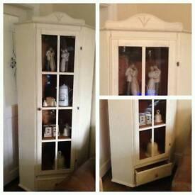 Shabby chic corner cupboard