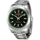 Rolex Milgauss Black Dial Crystal Oyster Bracelet Unisex Watch