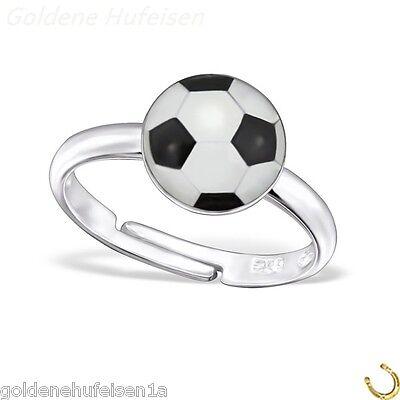 Fussball Kinder Ring 925 Echt Silber Top Geschenkidee / z-537