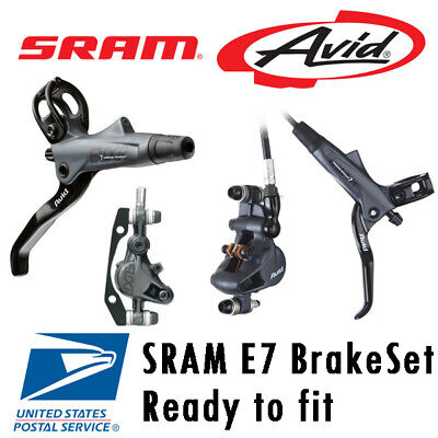 NEW SRAM AVID elixir E7 Hydraulic DIsc Brake Set front & rear G3 HS1 RT56 MTB