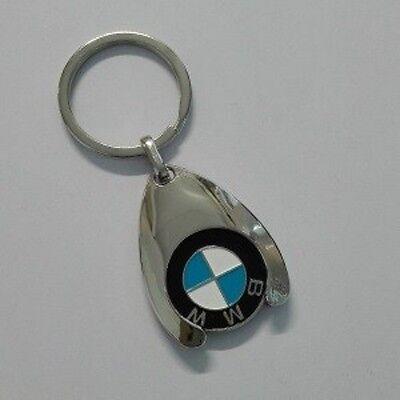 Original BMW Logo Schlüsselanhänger mit Einkaufschip NEU OVP