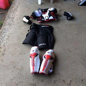 Kids hockey equipment