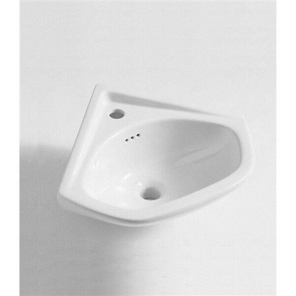 Lavandino Lavabo bagno Modello Angolo in ceramica bianco 39 cm
