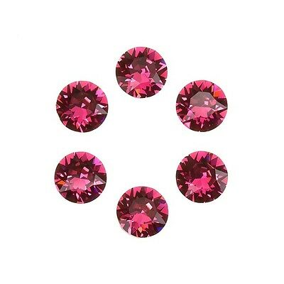 Swarovski 1088 Crystal XIRIUS Chatons Indian Pink Foil Back SS29 6mm (E98/5)