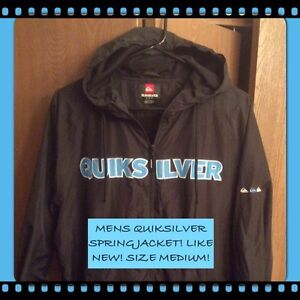 MENS MEDIUM QUIKSILVER SPRING JACKET