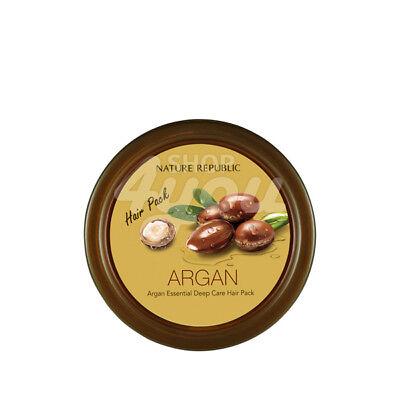 Nature Republic Argan Essential Deep Care Hair Pack 200ml +Free Sample