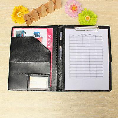 Executive A4 Men Business Conference Folder Wclipboard Pu Leather Document File