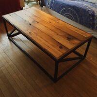 Beautiful reclaimed tobacco kiln pine coffee table