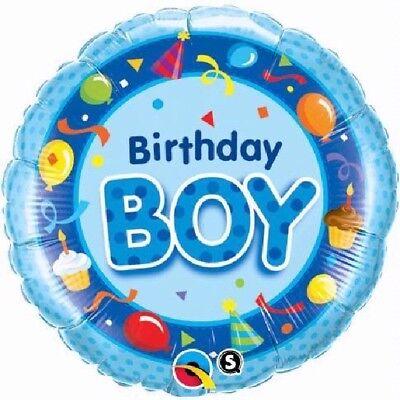 �te Streamers Kuchen Blau 45.7cm Party Folien Ballon Qualatex (Geburtstag Kuchen Hüte)