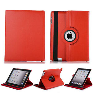 RED 360 ROTATING PU LEATHER CASE COVER WITH STAND FOR IPAD MINI Regina Regina Area image 4