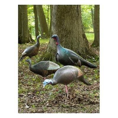 Cherokee Sports Ultimate Flock Turkey Decoys 4 Pack 1 Jake & 3 hens 3 positions