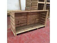 Fire wood storage log store
