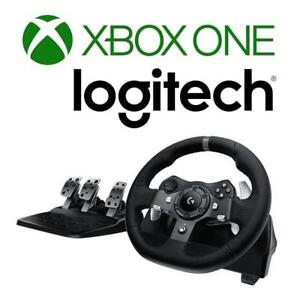 NEW DRIVING FORCE RACE WHEEL 941-000121 189387717 XBOX ONE LOGITECH FEEDBACK STEERING WHEEL AND PEDAL VIDEO GAME CONT...