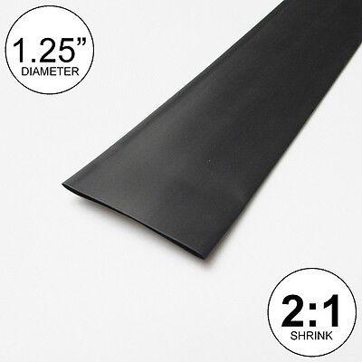 1.25 Id Black Heat Shrink Tube 21 Ratio 1-14 Wrap 10 Feet Inchftto 30mm