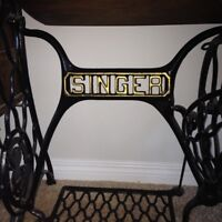 Antique Singer sewing machine stand.