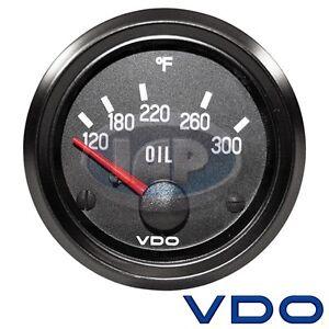 VW BUG AIR COOLED, VDO COCKPIT OIL TEMP GAUGE 300 DEGREE 310012