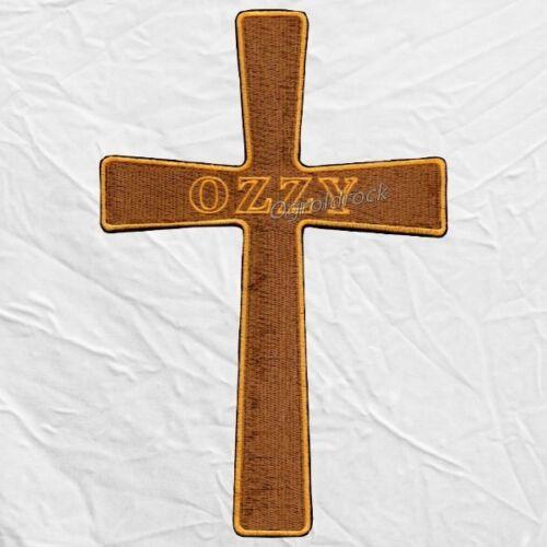 Black Sabbath Big The Ozzman Cometh Embroidered Patch Ozzy Osbourne Cross Devil