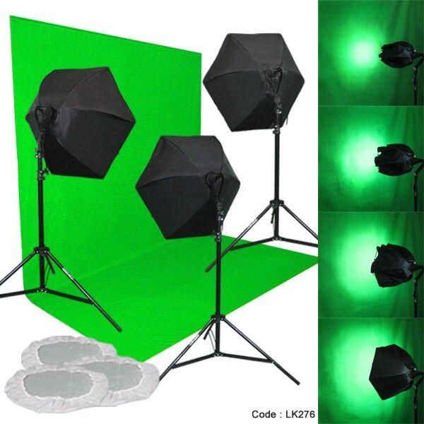 Linco Studio 3 Color Backdrop Light Lighting Photography Softbox Backdrop Stand