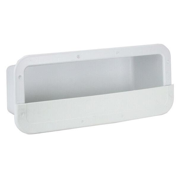 Boat Side Pocket Marine Storage Side Pocket White Rectangular PVC NEW