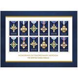 USPS New The Service Cross Medals Souvenir Sheet of 12