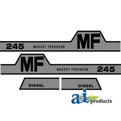 Tractor Decal Set To Fit Massey Ferguson 245 1215-1051