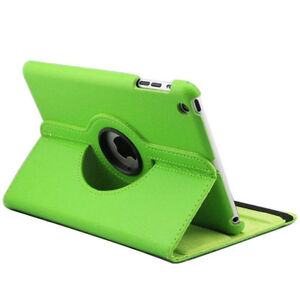 GREEN 360 ROTATING PU LEATHER CASE COVER WITH STAND FOR IPAD AIR Regina Regina Area image 3
