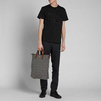 Maison Kitsuné Paris Embroidered Men Tee Black Size L