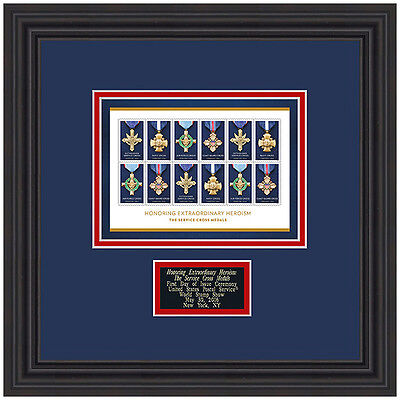 USPS New The Service Cross Medals Framed Art