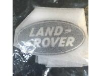 Genuine black Land Rover front grill badge