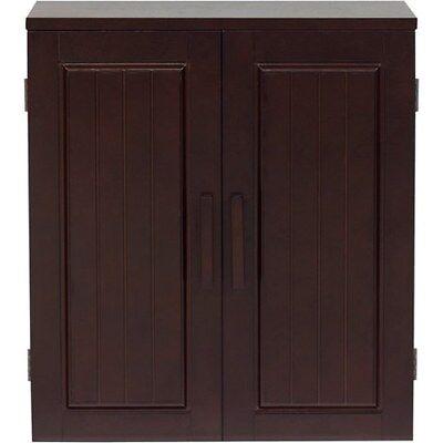 Wall Cabinet Storage Bathroom Shelf Wood Organizer Display Home Dark Espresso