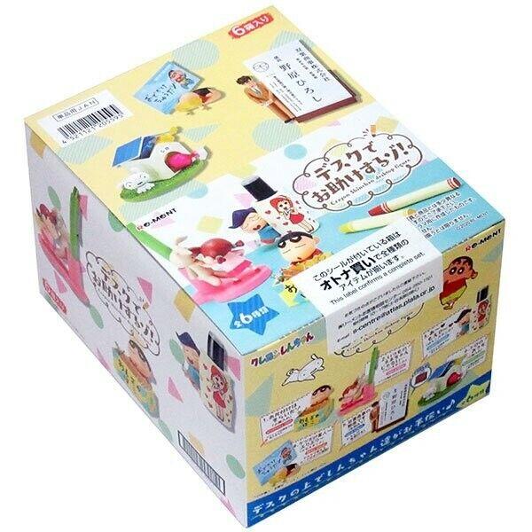NEW Re-Ment Miniature Japan Crayon Shinchan Desktop Figure Stationery 6 Full Set
